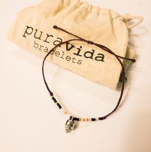 Pura vida skull bracelet